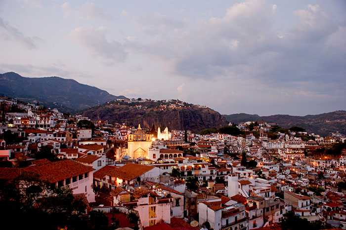 Evening view of Taxco